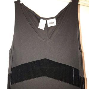 DKNY Jersey and velvet dress